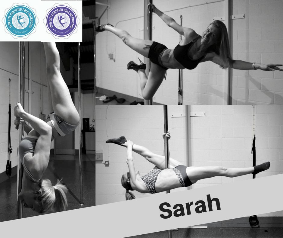 sarah myers pole instructor at verical joy