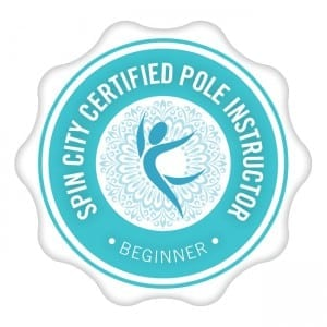Spin City beginner pole dance certification logo