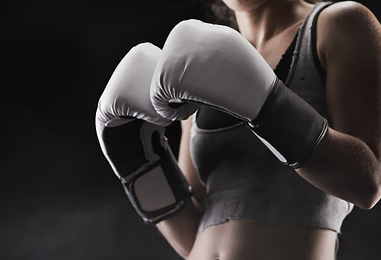 woman boxing - perfect punch