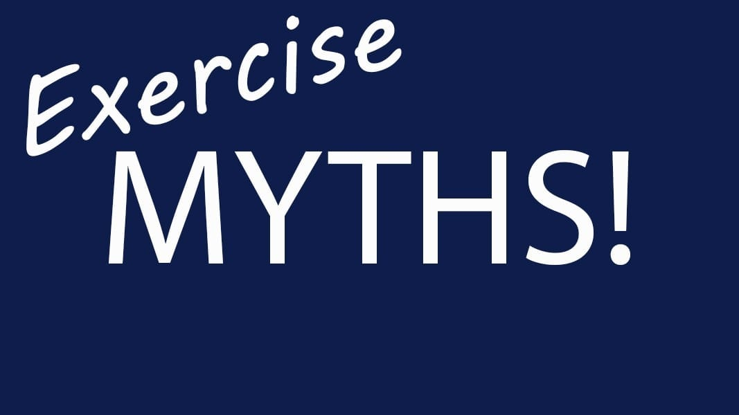 white text exercise myths part 2