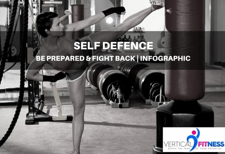 self defence image of woman kicking bag