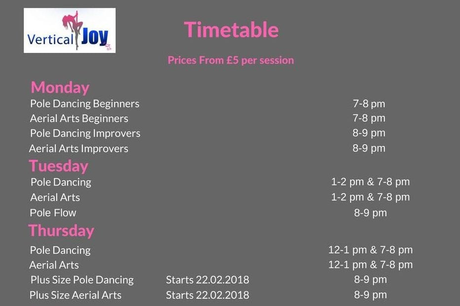 vertical joy timetable