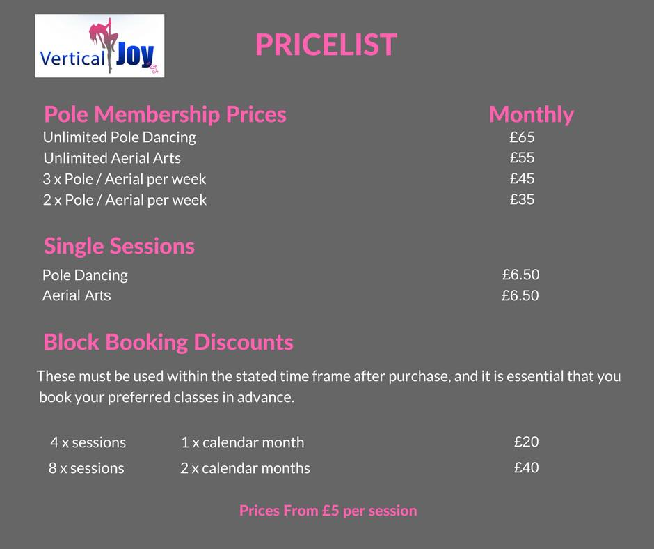 vertical joy price list